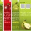 Stock Vector: Fresh fruit themed webpage template