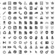 132 web, office, media, buisness icons — Stock Vector