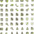 Web, office, media, buisness icons — Stock Vector