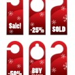 Christma sales door knob or hanger sign — Stock Vector