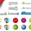 Web Design buttons and badges — Stock Vector
