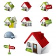 3D Real Estate Business Icon Set — Stock Vector #11261794