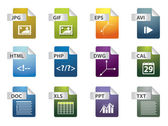 значки расширения файла — Cтоковый вектор