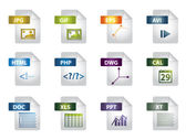 File extension icons — Vettoriale Stock