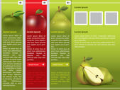Fresh fruit themed webpage template — Stock Vector