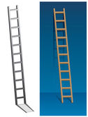 Ladder on the wall — Stock Vector