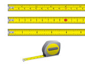 Tape measure in inches and centimeters. Vector. — Stock Vector