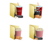 Cinema folder icons — Stock Vector