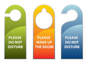 Door knob or hanger sign - do not disturb — Stock Vector