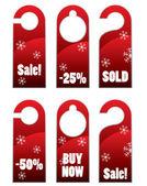 Christma ventas puerta perilla o suspensión de señal — Vector de stock