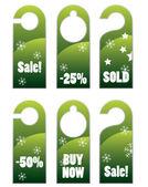 Christmas style knob hanger — Stock Vector