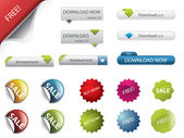 Badge e pulsanti di web design — Vettoriale Stock