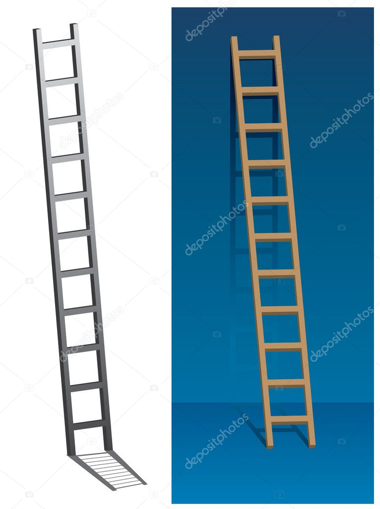 Ladder on the wall — Stock Vector #11261659