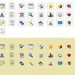 Stock Vector: Text editor icons