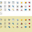 Text editor icons — Stock Vector