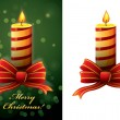 Christmas candle vector — Stock Vector