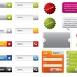 Web Design buttons and forms — Stock Vector #11375766