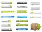 Website download buttons — Stock Vector