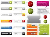 Formularios y botones de diseño web — Vector de stock