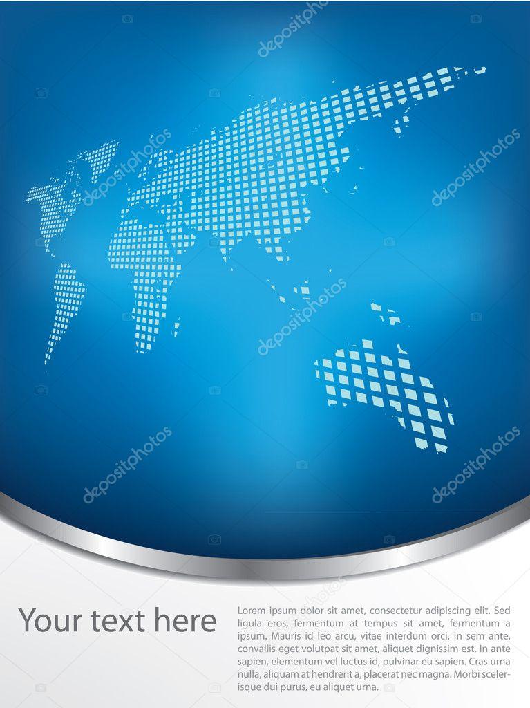 宣传册设计与地球的地图