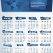 Calendar for 2013 vector — Stock Vector
