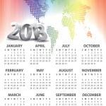 Calendar for 2013 vector — Stock Vector #11561887