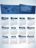 Calendar for 2013 vector — Stock Vector