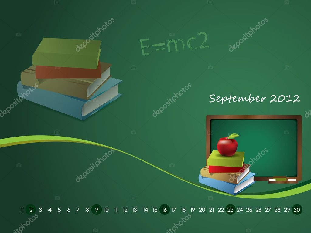 Calendar wallpaper for 2012 - September — Stock Vector #11595143