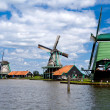 Stock Photo: Windmills in Zaanse Schans