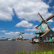 Windmills in Dutch town Zaanse Schans — Stock Photo