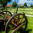 Stock Photo: Old wooden cart in village