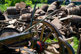 Old wooden cart of cart — Stock Photo