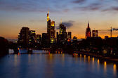 Frankfurt city at night — Stock Photo