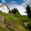 House on hill — Stock Photo
