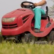 Stock Photo: Cutting grass
