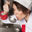 Female chef — Stock Photo