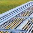 Stock Photo: Pipeline on green field