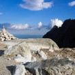 Cairn in the mountains — Stock Photo