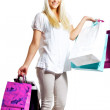 Happy Woman Shopping — Stock Photo #10884837