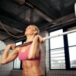 strong bodybuilding female — Stock Photo