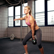 Stock Photo: Kettlebell Workout