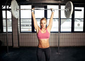 Shoulder Press Fitness Exercise — Stock Photo