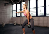 Kettlebell Workout — Foto de Stock