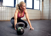 Crossfit Woman Resting — Stock Photo