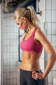 Portrait of Sporty Woman in Gym — Stock Photo
