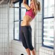 Woman Pull Ups — Stock Photo