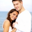 Couple Holding Each Other's Hands Posing — Stock Photo