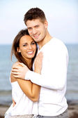 Lovely Young Couple Smiling while Posing — Stock Photo