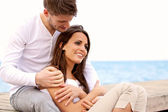 Couple Spending Time Together by the Sea — Stock Photo