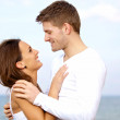 Lovely Couple Looking at Each Other with Affection — Stock Photo #11981008